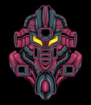 Illustrazione di robot mecha