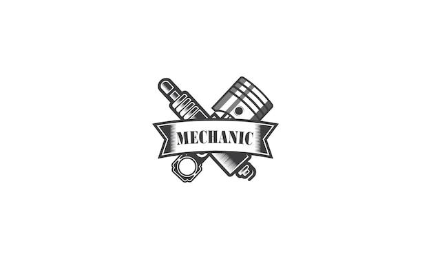 Progettazione del logo di riparazione di ingegneria dei servizi meccanici