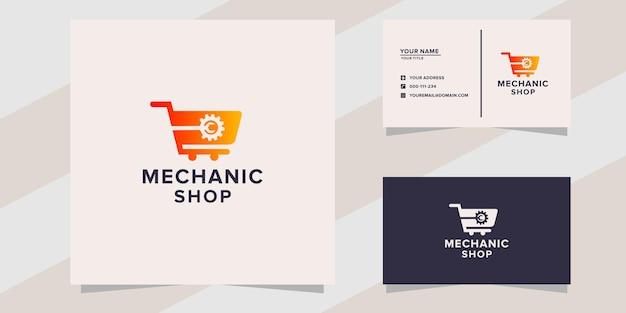 Modello logo officina meccanica
