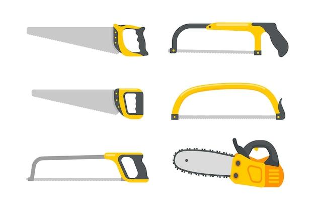 Vettore di set di strumenti meccanici. strumenti di costruzione per riparazioni domestiche isolati su sfondo bianco