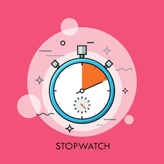 Cronometro o timer manuale analogico meccanico concetto di rilevamento del tempo e misurazione del conto alla rovescia del tempo preciso o preciso