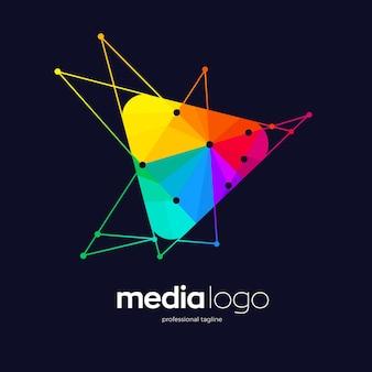 Design del logo della società di media