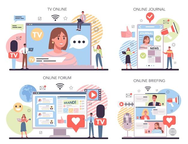 Servizio multimediale online o set di piattaforme