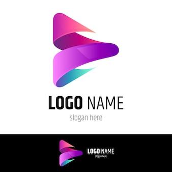 Concetto di logo di riproduzione multimediale