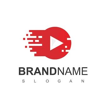 Modello di progettazione del logo del lettore multimediale