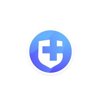 Icona del logo dell'app medica, disegno vettoriale