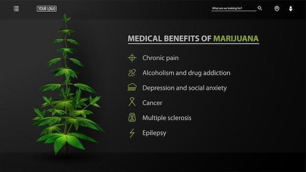 Benefici medici della marijuana, sito web nero