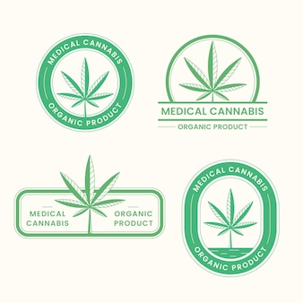 Set di badge di cannabis medica