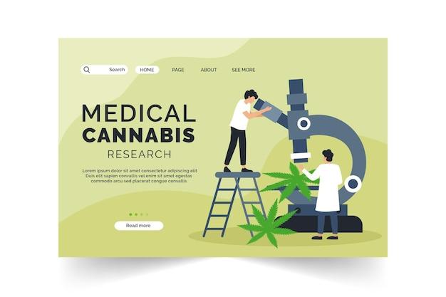 Modello di pagina di destinazione della cannabis medica