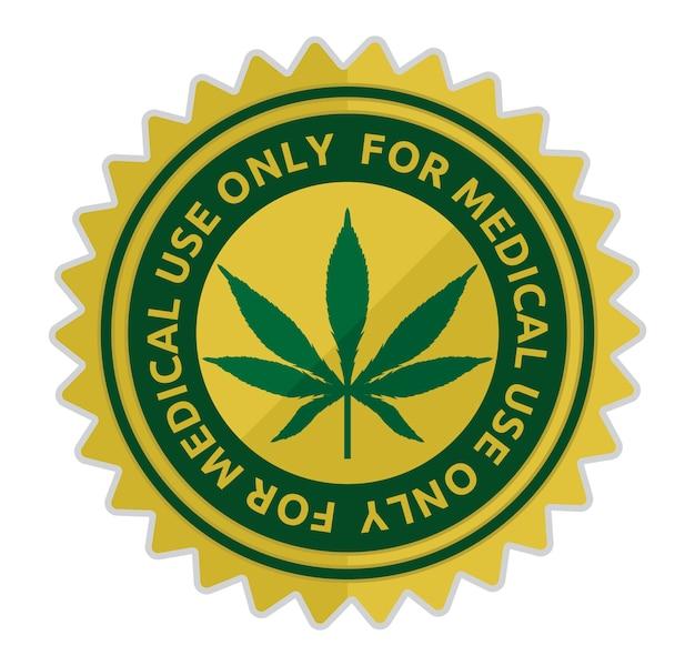 Illustrazione vettoriale di cannabis medica