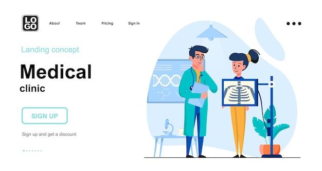 Modello di pagina di destinazione della clinica medica