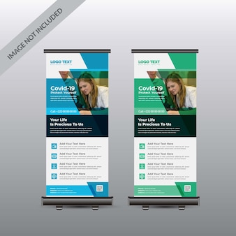 Clinica medica roll up template banner