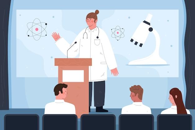 Illustrazione della conferenza medica