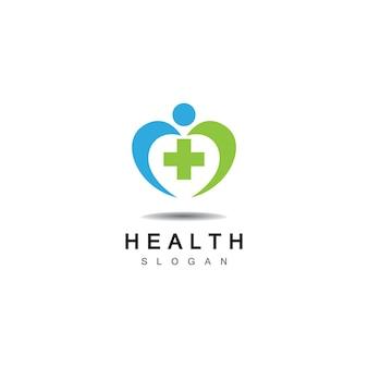 Croce medica e salute farmacia logo vector template