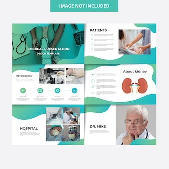 Modello di presentazione dell'ospedale di disegno medico