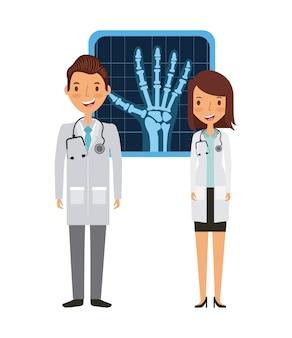 Medici con x raggi di mano