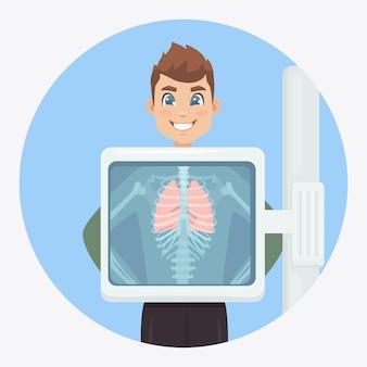 Visita medica di infezioni respiratorie per intervento chirurgico