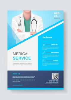 Modello di progettazione volantino medico