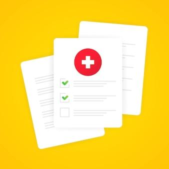 Elenco dei moduli medici con i dati dei risultati e il vettore del segno di spunta approvato