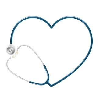 Concetto di sanità e medico, stetoscopio del medico isolato