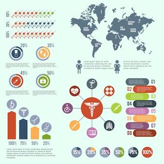 Infografica di assistenza sanitaria medica