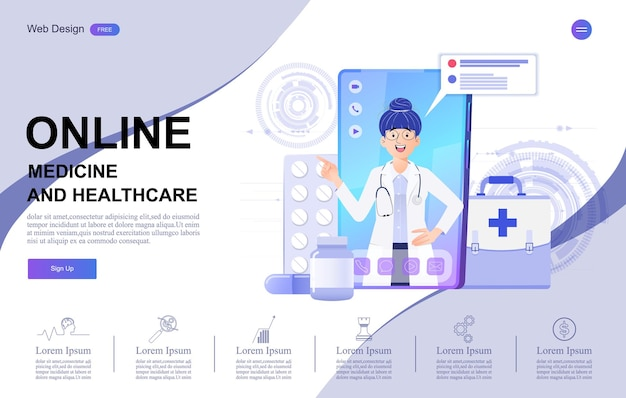 Banner di consultazione online medica e sanitaria