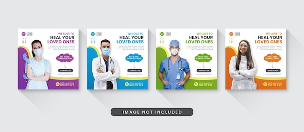 Modello di post instagram social media medico e sanitario