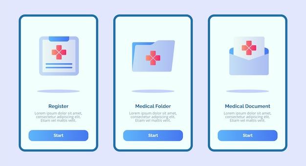 Documento medico cartella medica icona registro medico