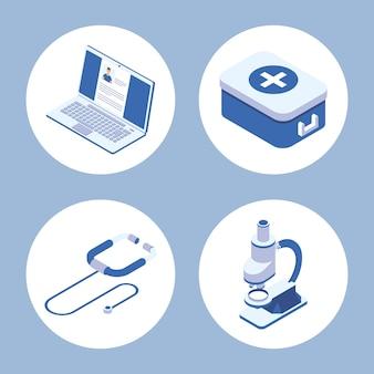 Set di icone mediche