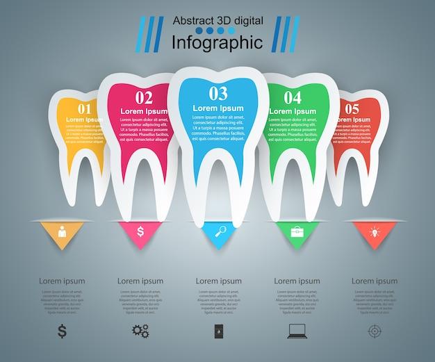 Illustrazione di vettore di stile di origami di infographics medico.