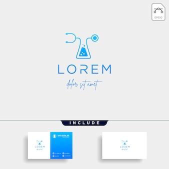 Simbolo dell'icona del disegno vettoriale del logo del laboratorio medico