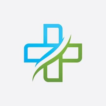 Segno medico del logo, disegno dell'illustrazione di vettore del modello