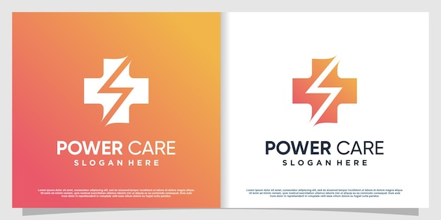 Logo medico con elemento creativo moderno vettore premium parte 2