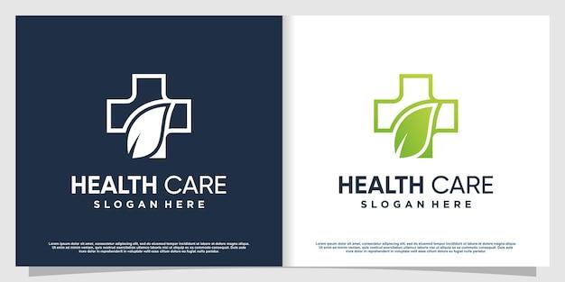 Logo medico con elemento creativo moderno vettore premium parte 4