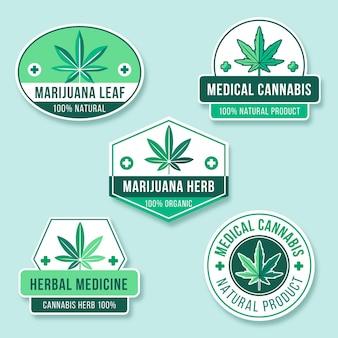 Collezione di distintivi di marijuana medica