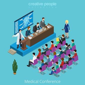 Concetto di conferenza internazionale in tutto il mondo della medicina medica.