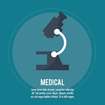 Assistenza sanitaria al microscopio medico