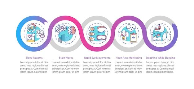 Modello di infografica monitoraggio medico