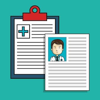 Progettazione dell'illustrazione di vettore dell'icona isolata ordine medico