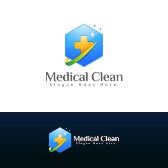 Modello di progettazione di logo di farmacia medica