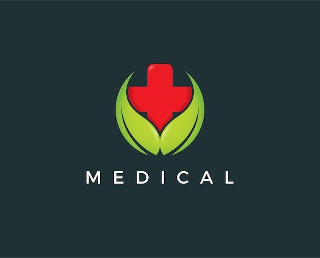 Modello di progettazione del logo della farmacia medica