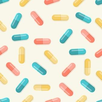 Modello senza cuciture di pillole mediche