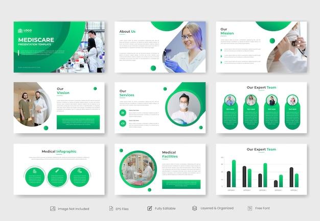 Modello di presentazione powerpoint medico