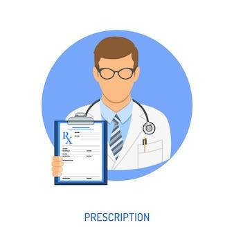 Concetto di prescrizione medica