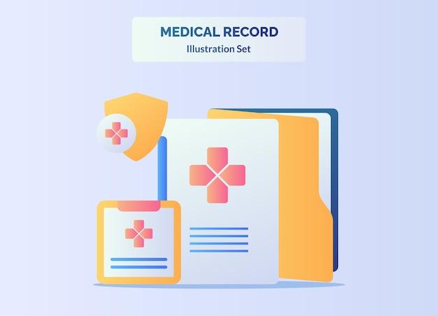 Storia sana del paziente del documento dell'archivio di concetto della cartella clinica