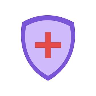 Icona dello scudo medico grafica vettoriale