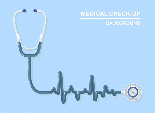 Stetoscopio medico sullo sfondo. assistenza sanitaria, ricerca del concetto di cuore.