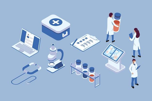Collezione di simboli medici