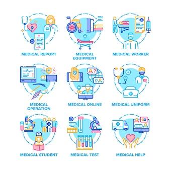 Set di ossequi medici