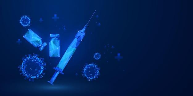 Trattamento medico vaccino nella tecnologia astratta del concetto di innovazione